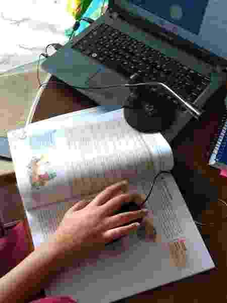 Aluno do Amorim em aula virtual - Arquivo Pessoal - Arquivo Pessoal