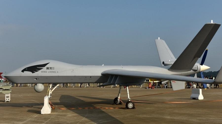 Drone Wing Loong II assegura sinal de internet em um raio de até cinco quilômetros - Xinhua