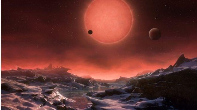Astrônomos descobrem planetas 'potencialmente habitáveis' em órbita de estrela anã fria