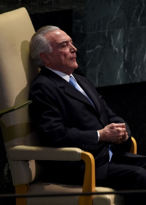 O presidente Michel Temer na Assembleia Geral da ONU, em Nova York