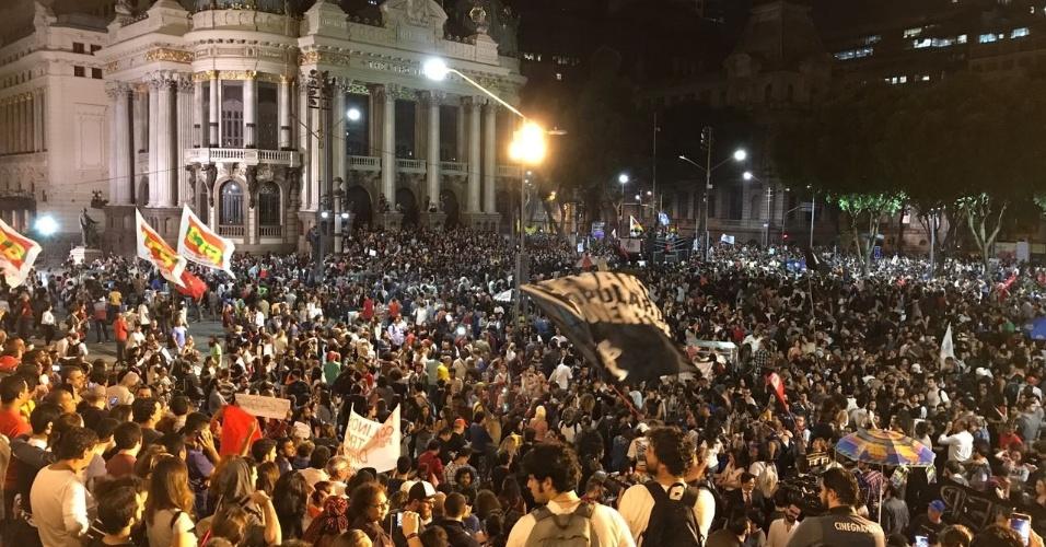 Protesto contra Temer no Rio