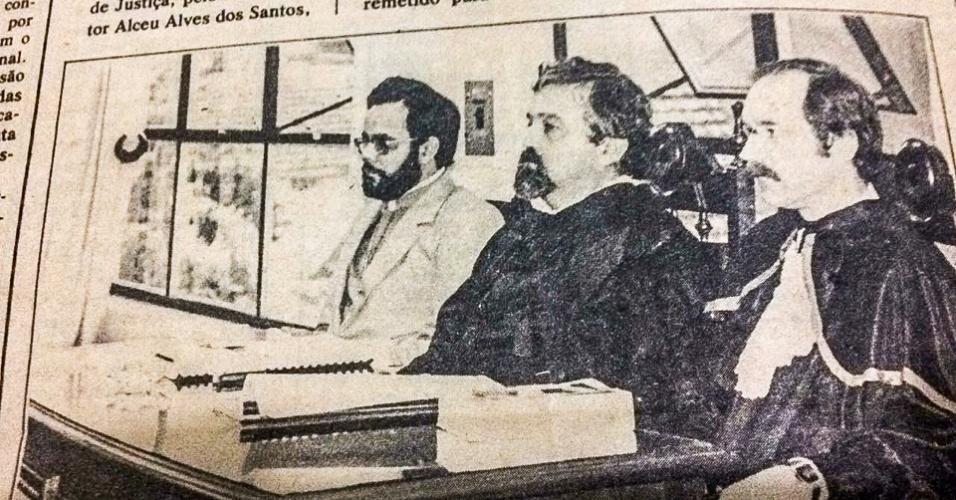 Orvandil Barbosa (o primeiro da esquerda para direita) foi perseguido em Uruguaiana e transferido para Cruz Alta e Santa Maria, onde foi condenado à prisão