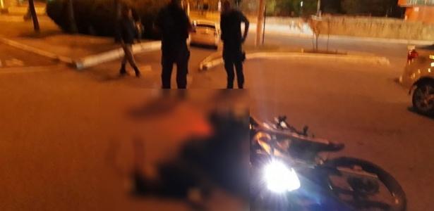 18.mai.2018 - Militar reage e mata assaltante em moto em Niterói