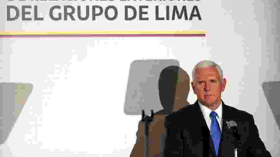 Mike Pence, vice-presidente dos EUA, em reunião do Grupo de Lima na Colômbia - LUISA GONZALEZ/REUTERS