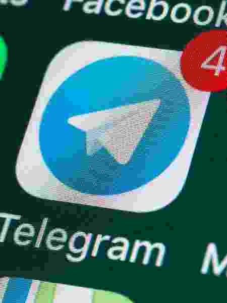 Telegram, aplicativo de mensagens, ao lado de WhatsApp e Messages - Getty Images