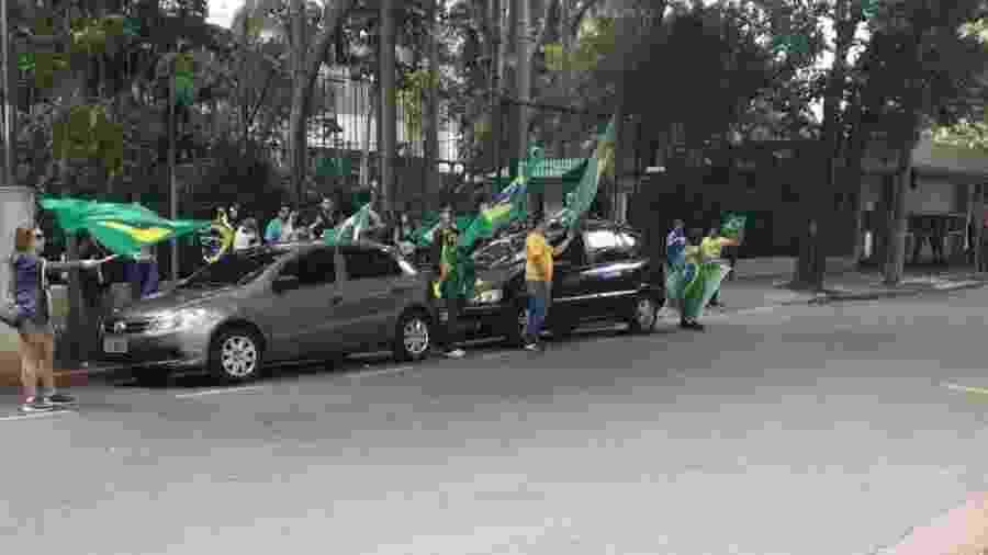 Protesto na frente da case do ministro do STF Alexandre de Moraes - Reprodução