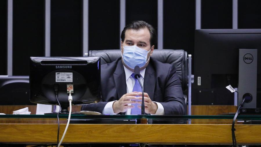 O presidente da Câmara dos Deputados, Rodrigo Maia (DEM-RJ), em sessão deliberativa da Casa - Maryanna Oliveira/Câmara dos Deputados
