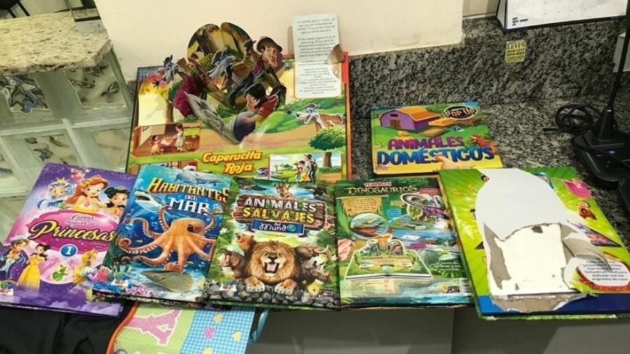 Polícia encontra drogas escondidas em livros infantis em SP - Reprodução/Polícia Rodoviária