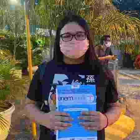 A estudante Andressa Chagas reclamou do ar-condicionado no Rio - Tatiana Campbell/UOL - Tatiana Campbell/UOL