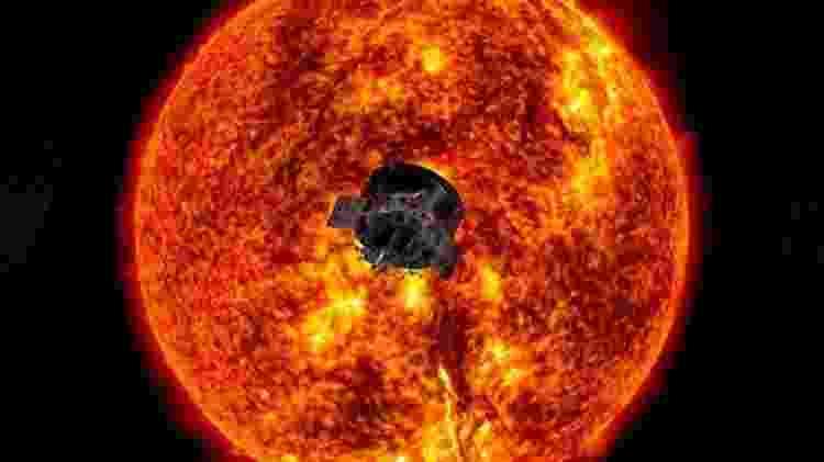 A missão Parker Solar Probe da Nasa viajou mais perto do Sol do que qualquer objeto feito pelo homem antes - Nasa/ Johns Hopkins APL - Nasa/ Johns Hopkins APL