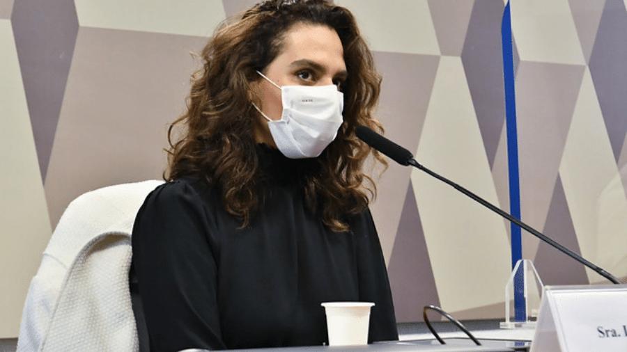 A médica infectologista Luana Araújo prestou depoimento à CPI da Covid hoje - Jefferson Rudy/Agência Senado