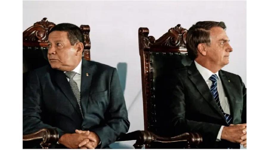 Hamilton Mourão e Jair Bolsonaro: é impossível olhar para o mesmo lugar. Sob certo ponto de vista, é bom para democracia - Claudio Reis/FramePhoto
