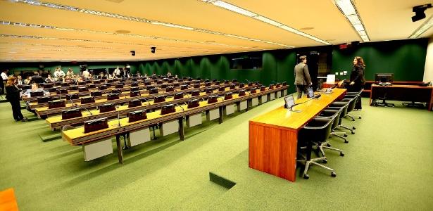 Um dos plenários da Câmara dos Deputados, em Brasília