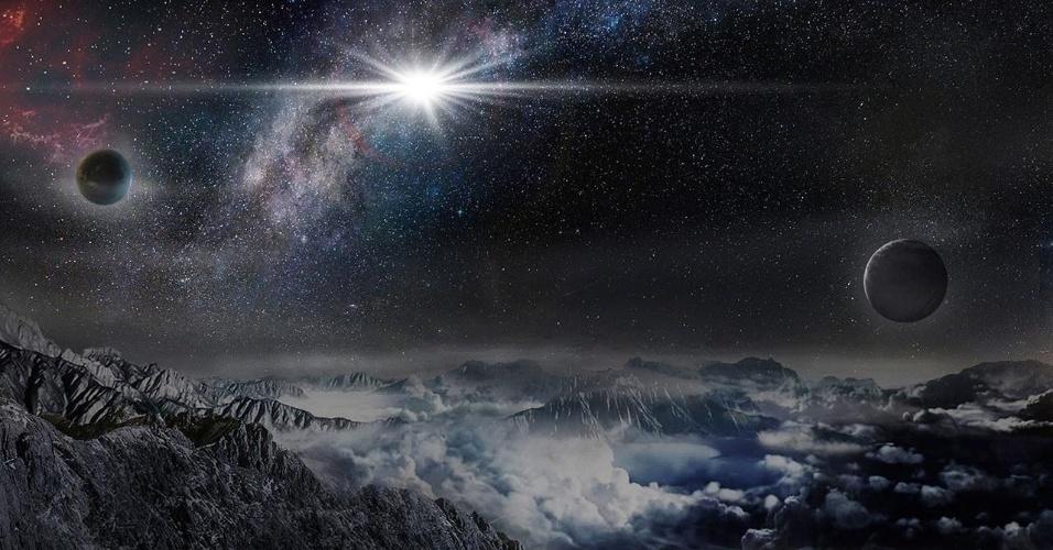 14.jan.2016 - Astrônomos descobriram a supernova mais brilhante já detectada na história do universo. A descoberta foi feita em junho do ano passado pelo ASAS-SN  (All Sky Automated Survey for SuperNovae), um sistema de oito pequenos telescópios colocados em dois locais, no Havaí (EUA) e no Chile, capaz de escanear o céu inteiro a cada dois ou três dias. Chamada de ASAS-SN-15lh, a supernova é milhares de vezes mais brilhante do que uma supernova normal e brilha 50 vezes mais do que a Via Láctea. Nas últimas décadas, os astrônomos têm visto surgir uma nova classe rara de explosões, são supernovas superluminosas - as vezes denominada de hipernova