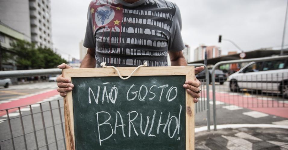 """""""Não gosto do barulho. São Paulo é uma cidade muito barulhenta, fruto desse trânsito maluco que temos. Mais música, menos barulho!"""""""