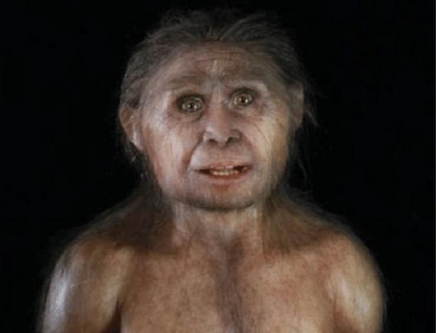 Reprodução de como seria um Homo floresiensis