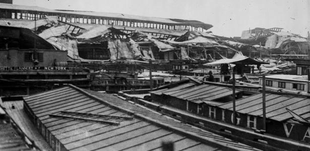 Após décadas, investigação concluiu que explosão no Porto de Nova York foi atentado  - Library of Congress via The New York Times