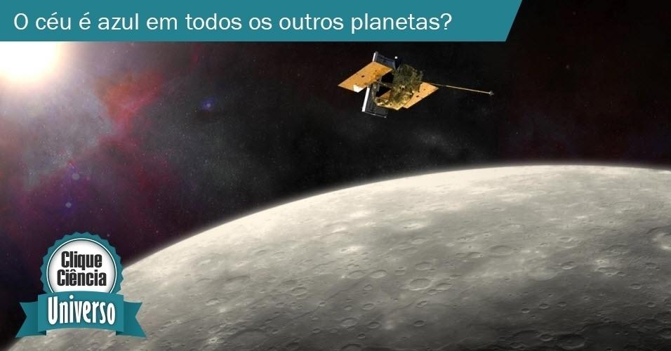 O céu é azul em todos os outros planetas?