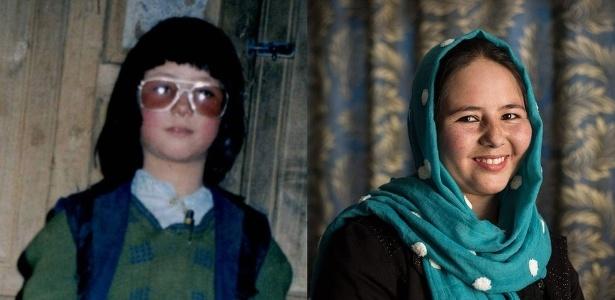 """Zahra como """"Mohammed"""" (à esq) e ela hoje (à dir) - Arquivo Pessoal/Joel van Houdt"""