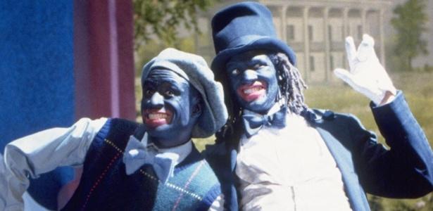 """Cena do filme """"A Hora do Show"""" (2000), dirigido por Spike Lee, que abordava a prática do """"black face"""""""