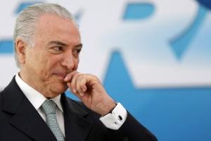 Michel Temer em cerimônia no Palácio do Planalto, em Brasília