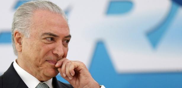 7.dez.2016 - Michel Temer em cerimônia no Palácio do Planalto em Brasília