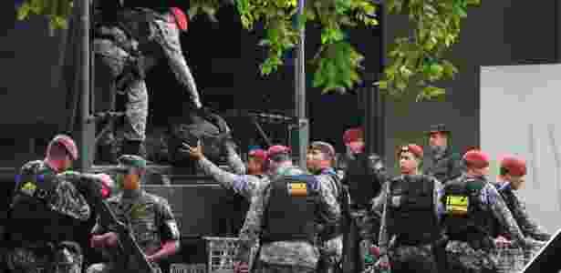 Força nacional em manaus - Edmar Barros/Futura Press/Estadão Conteúdo - Edmar Barros/Futura Press/Estadão Conteúdo