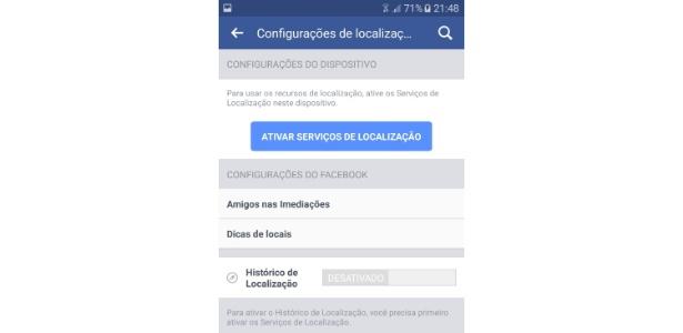 localização celular facebook