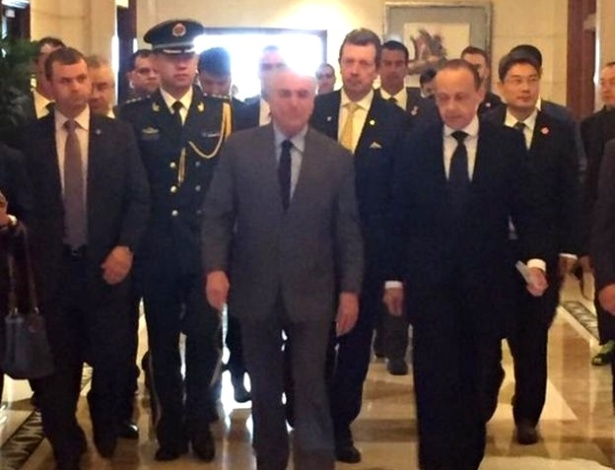 Presidente Michel Temer e comitiva brasileira na China