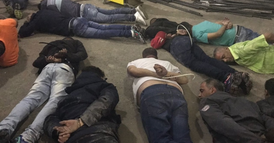 Suspeitos de participarem da escavação de um túnel para furtar o Banco do Brasil em São Paulo