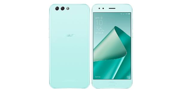 Zenfone 4, celular da Asus, na cor menta