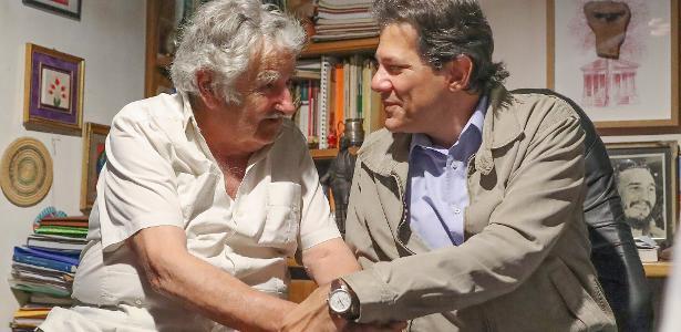 Haddad e parlamentares do PT se encontram com Mujica em Montevidéu ... c58ec95e636c1