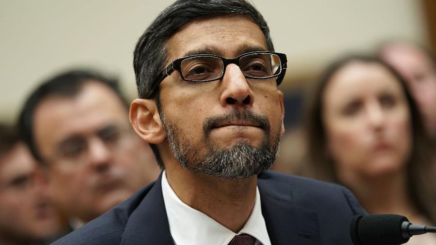 Para o CEO Sundar Pichai, é importante ter clareza sobre potenciais consequências negativas da inteligência artificial - Alex Wong/Getty Images/AFP