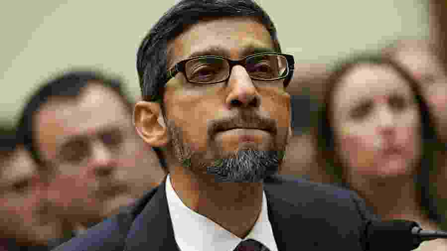 Sundar Pichai (acima), executivo-chefe do Google, entra no lugar de Larry Page - Alex Wong/Getty Images/AFP