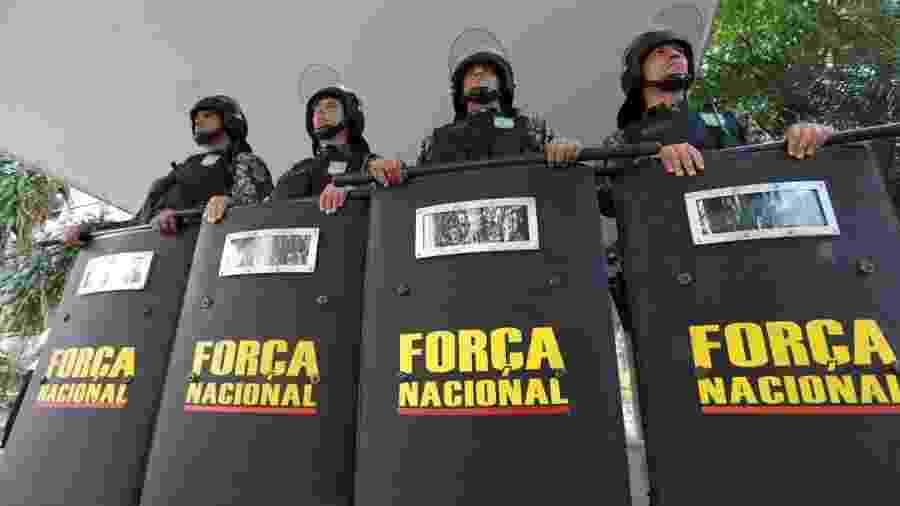 Homens da Força Nacional de Segurança Pública - Fabio Rodrigues Pozzebom/Agência Brasil