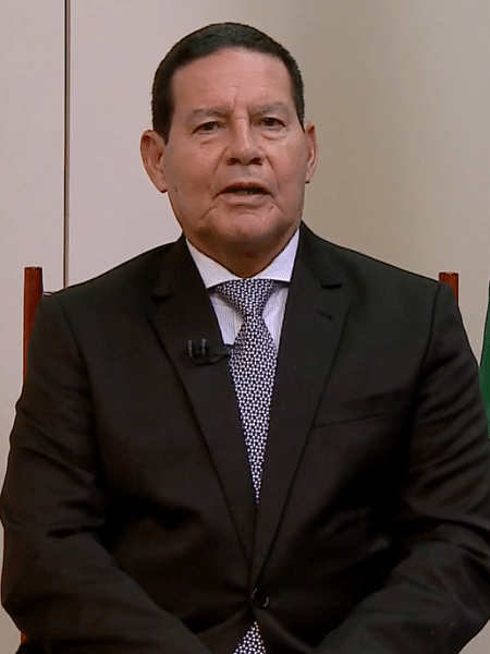 O general Hamilton Mourão é o presidente em exercício enquanto Jair Bolsonaro está em viagem aos EUA - Reprodução