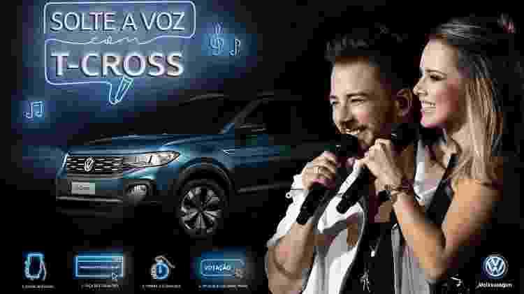 """A Volkswagen lançou a promoção """"Solte a Voz com T-Cross"""", que dará par de ingressos para show de Sandy e Junior - Divulgação"""