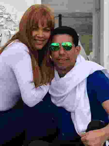 A deputada federal Flordelis (PSD-RJ) e o pastor Anderson do Carmo - Reprodução/Facebook
