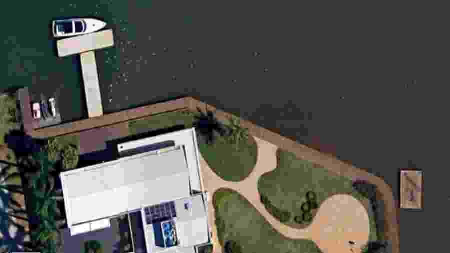 Casa utilizada por Flávio Bolsonaro em entrevista para a Globo News - Reprodução/Google Maps