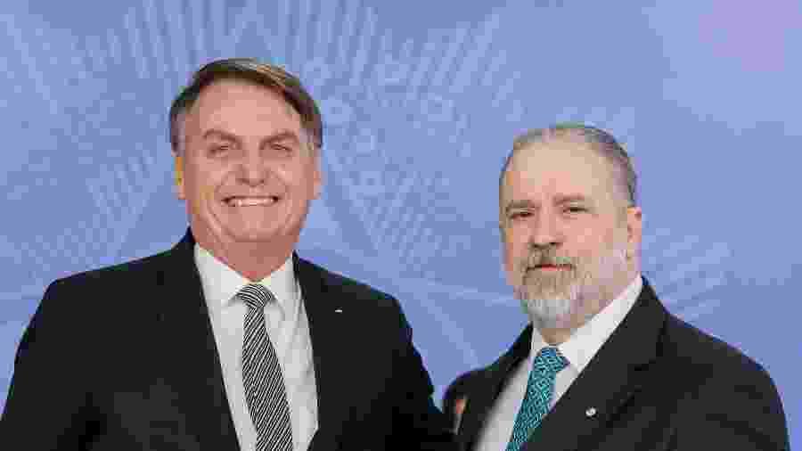 26.set.2019 - O presidente Jair Bolsonaro (PSL) e o procurador-geral da República, Augusto Aras - Isac Nobrega/PR