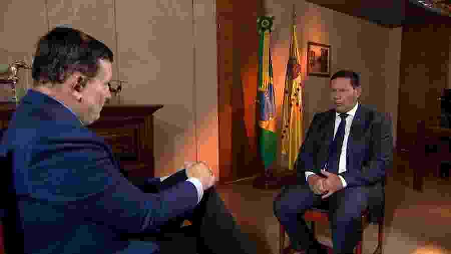 Em entrevista a Roberto Cabrini, do SBT, Mourão disse que uma possível invasão à Amazônia não é fantasia - Divulgação / SBT