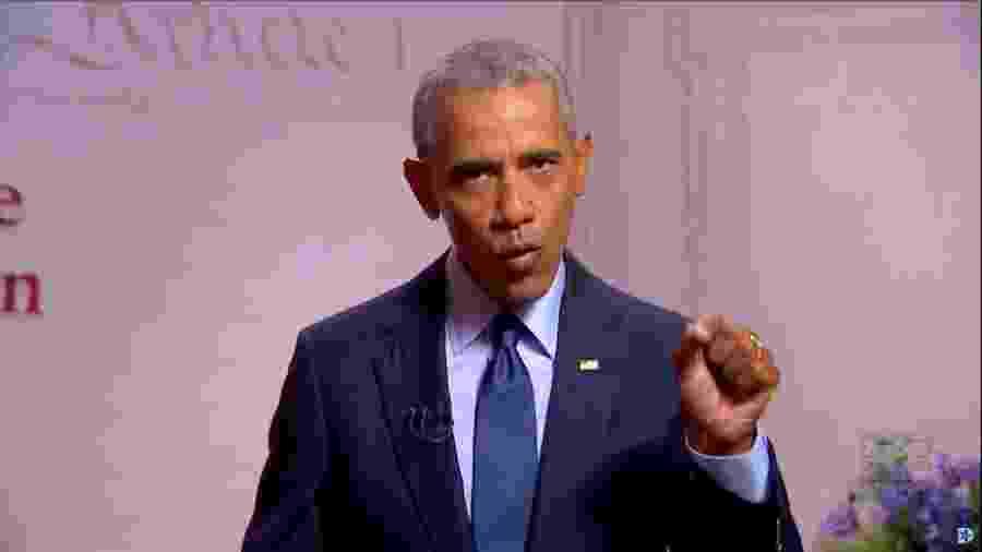 O ex-presidente dos EUA Barack Obama durante Convenção Nacional do Partido Democrata -