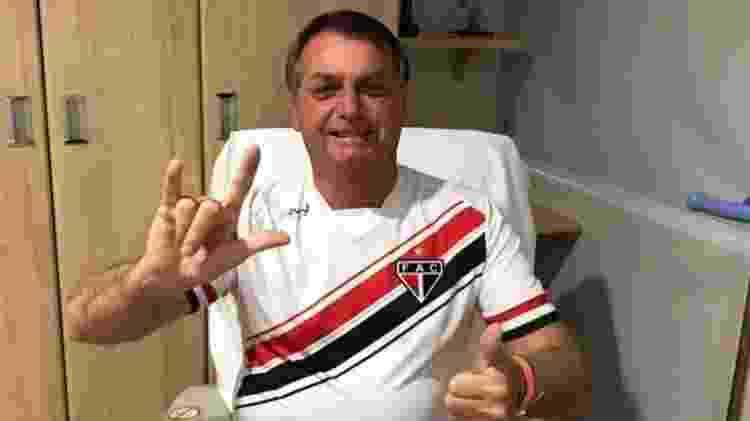 Presidente Jair Bolsonaro em recuperação no hospital Albert Eintein - Reprodução/Instagram - Reprodução/Instagram