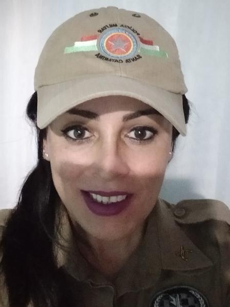 Priscila Diana é sargento na PM de Santa Catarina - Arquivo Pessoal