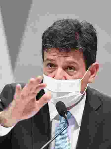 4.mai.2021 - O ex-ministro da Saúde Luiz Henrique Mandetta em depoimento à CPI da Covid no Senado - Jefferson Rudy/Agência Senado - Jefferson Rudy/Agência Senado