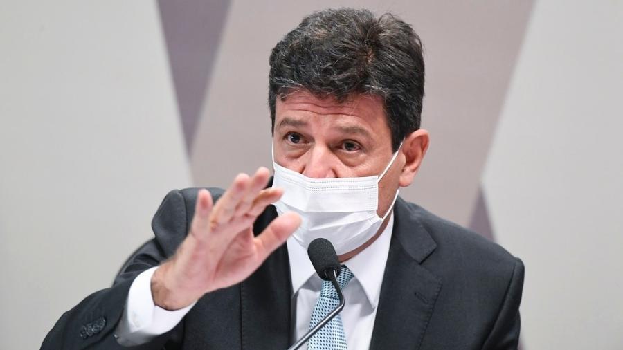 4.mai.2021 - O ex-ministro da Saúde Luiz Henrique Mandetta em depoimento à CPI da Covid no Senado - Jefferson Rudy/Agência Senado