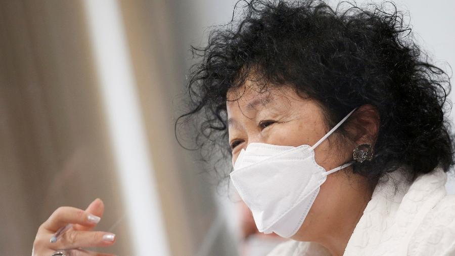 01.jun.2021 - Médica Nise Yamaguchi durante depoimento na CPI da Covid, em Brasília (DF) - Adriano Machado/Reuters
