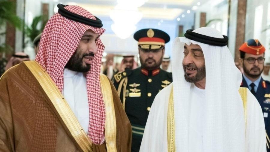 Disputas surgiram na aliança formada pela Arábia Saudita e os príncipes herdeiros de Abu Dhabi - REUTERS
