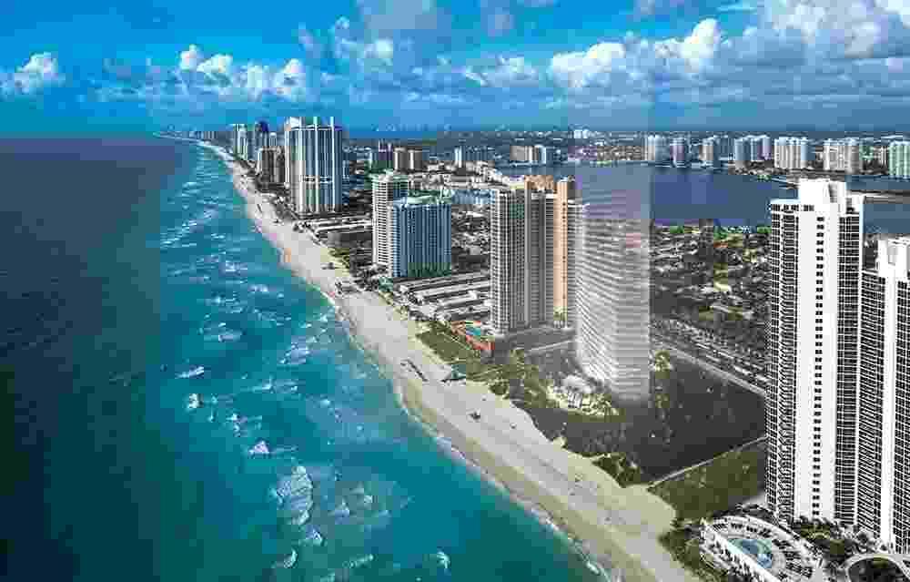Perspectiva condomínio Residences by Armani Casa, em Miami, será decorado com móveis da marca italiana de luxo - Divulgação