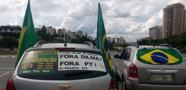 São Paulo tem carreata a favor do impeachment de Dilma - Sérgio Castro/Estadão Conteúdo